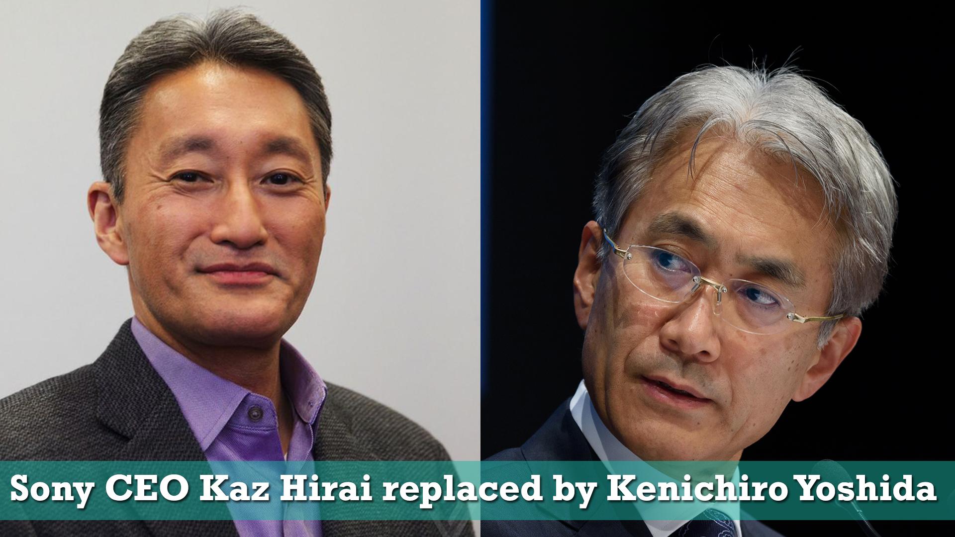 Sony CEO Kaz Hirai will step down on 1st April 2018