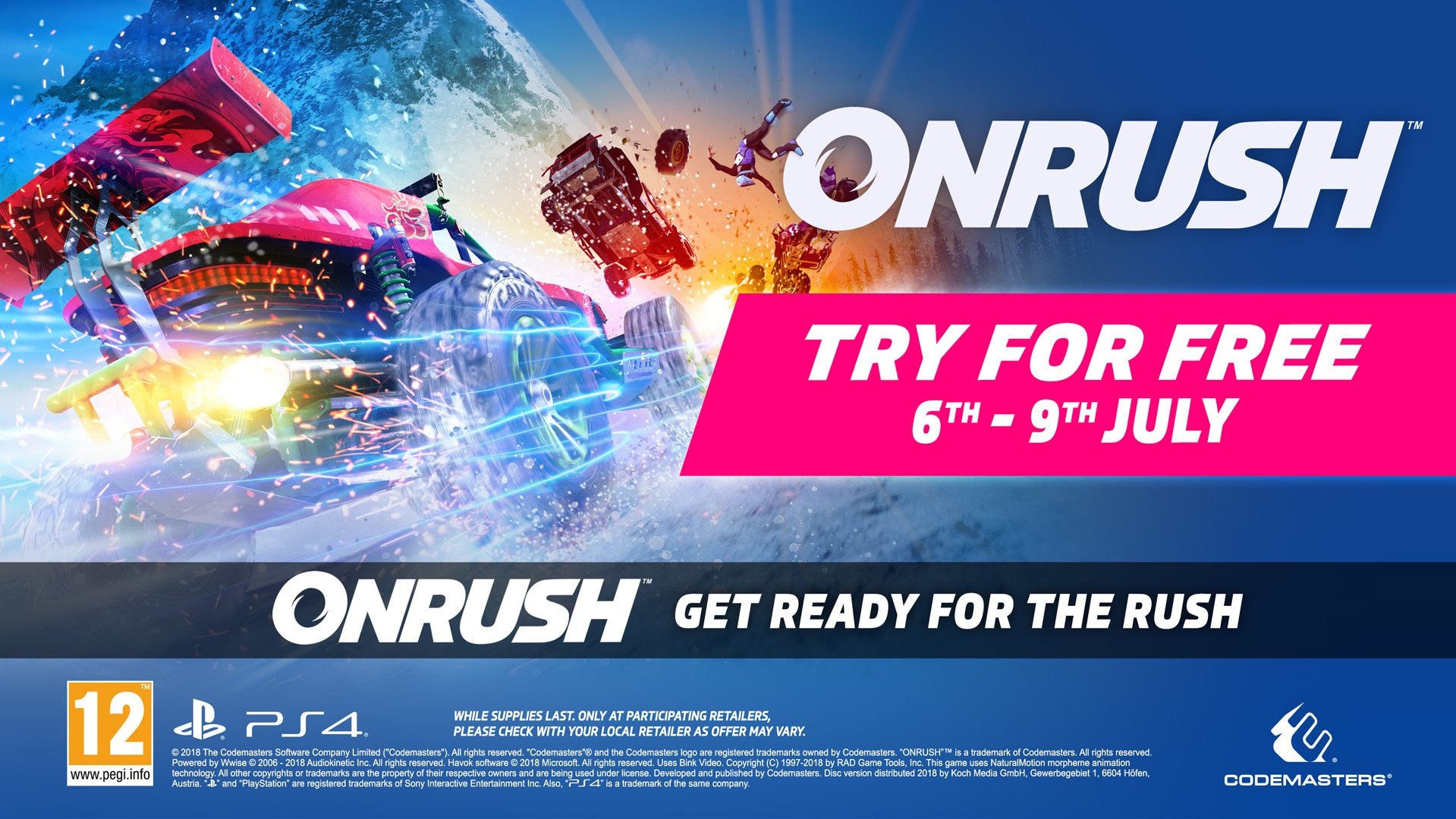 OnRush free this weekend and currently half price for PlayStation Plus subscribers